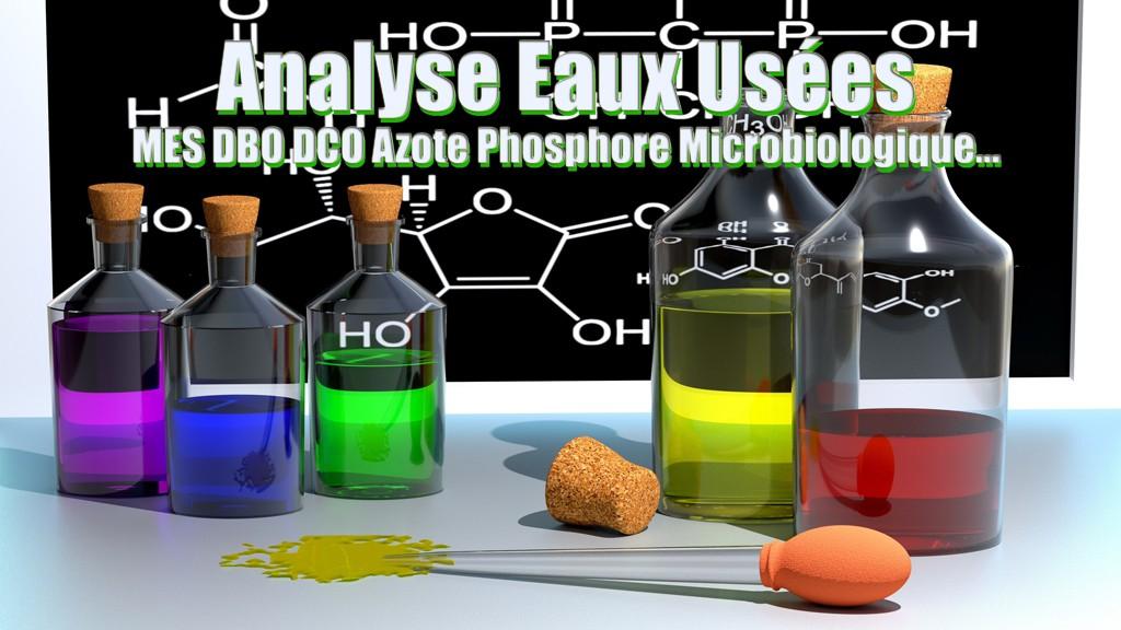 Analyse eaux usées MES DBO DCO Azote Phosphore Microbiologique