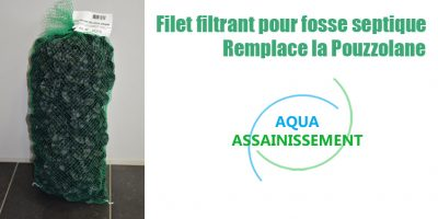 Filet filtrant pour fosse septique