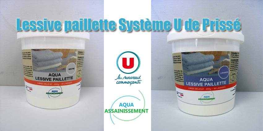 Lessive paillette Système U