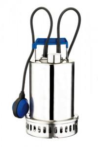 EBARA BEST 2 MA électropompe submersible en acier inoxydable AISI 304 particulièrement adaptée pour le drainage de chantiers de petites ou moyennes surfaces, la vidange d'eaux claires (vidanges de puits, garages, caves, locaux inondés