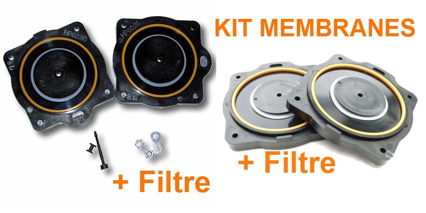 Kit Membranes Filtre Compresseurs Hiblow