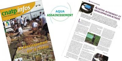 Partenaire Artisans Travaux publics (TP) Paysagistes Aqua Assainissement CNATP infos n°70 Le journal des adhérents