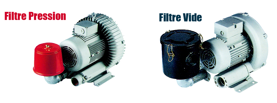 Les filtres sont fournis avec leur coude de raccordement afin que vous n'ayez plus qu'à les visser à l'aspiration de la soufflante.