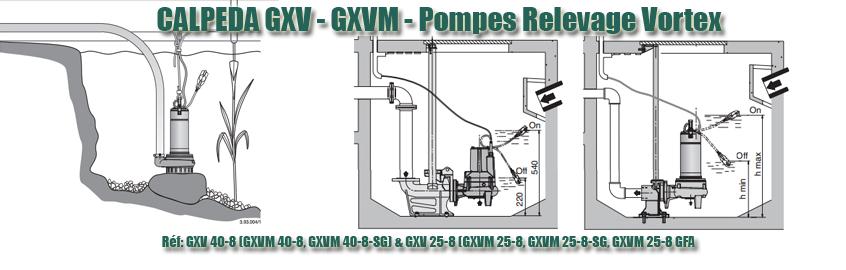 CALPEDA GXV GXVM - Pompes Relevage Vortex