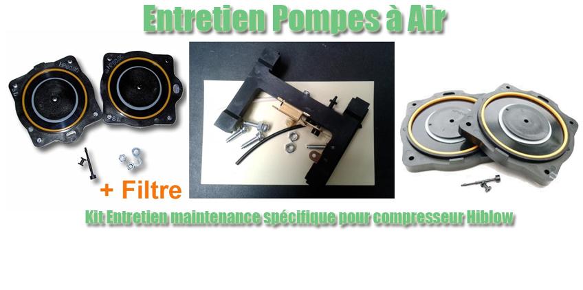 Entretien Pompes à Air - Kit Entretien maintenance spécifique pour compresseur Hiblow