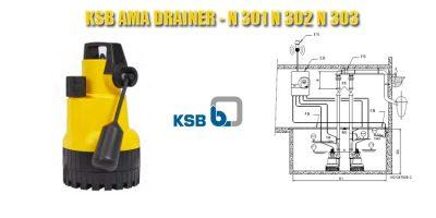 KSB AMA DRAINER - N 301 N 302 N 303