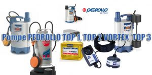 Pompe PEDROLLO TOP 1, TOP 2 VORTEX, TOP 3