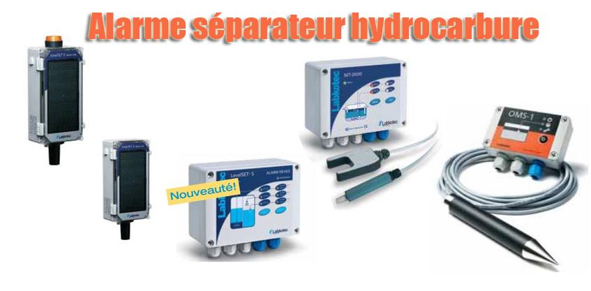Alarme séparateur hydrocarbure