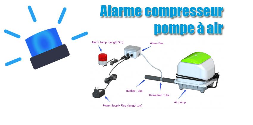 Alarme compresseur pompe à air