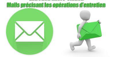 Entretien micro-station - Mails précisant les opérations d'entretien