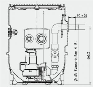 poste de relevage eaux usées EVAMATIC-BOX 1501 E-S-M de KSB.