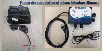 Pompe de recirculation et pièces détachées Bionest