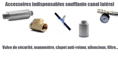 Accessoires indispensables soufflante canal latéral