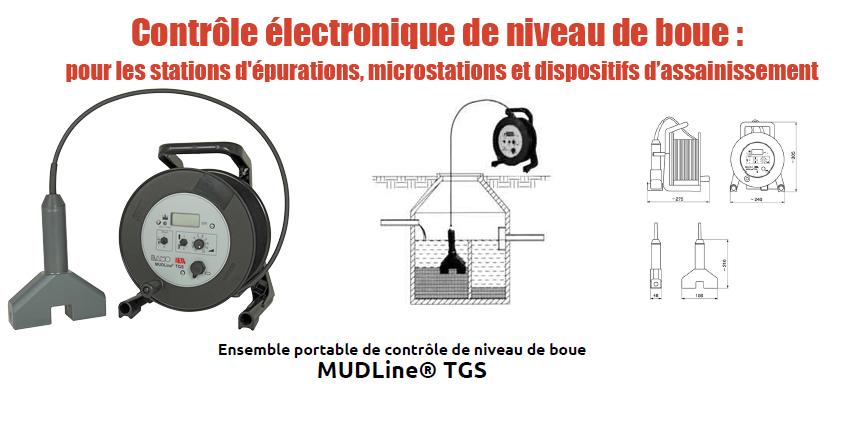 Contrôle électronique de niveau de boue : Contrôleur portable de niveau de boue MUDLINE TGS