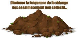 Diminuer la fréquence de la vidange des assainissement non collectif...