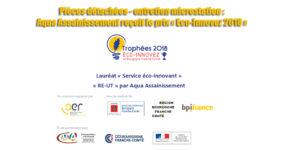 Pièces détachées - entretien microstation : Aqua Assainissement reçoit le prix « Eco-Innovez 2018 »