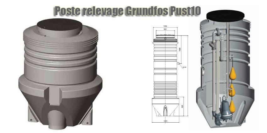 Poste relevage Grundfos Pust10