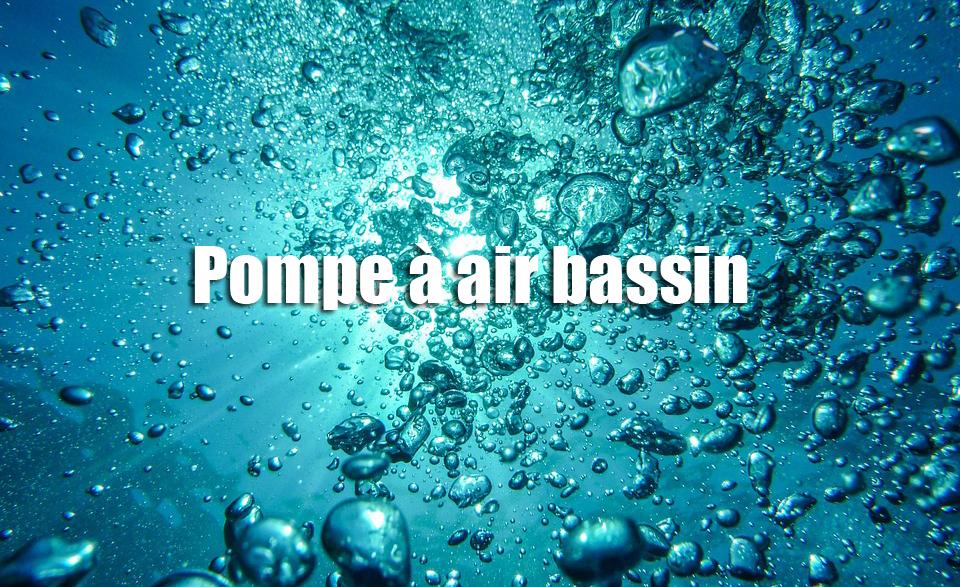 Pompe à air bassin