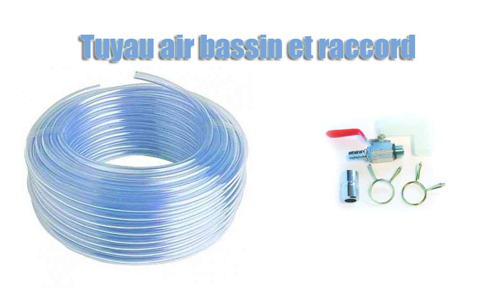 Tuyau air bassin et raccord