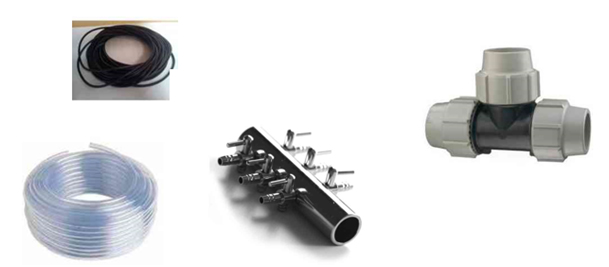 Tuyaux d'air – Diffuseurs – Raccords – Distributeurs