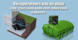 Récupérateurs eau de pluie 3000, 3500, 5000, 6000, 7000, 10000 litres à enterrer.