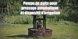 Pompe de puits pour arrosage automatique et dispositif d'Irrigation