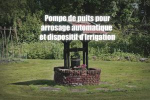 Pompe de puits pour arrosage automatique et dispositif d'Irrigation