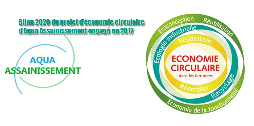 Bilan 2020 du projet d'économie circulaire d'Aqua Assainissement engagé en 2017
